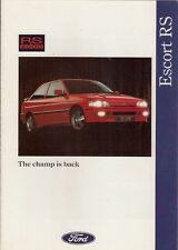 Ford Escort RS 2000 Mk5 1991-92 UK Market Foldout Sales Brochure