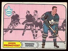 1968-69 O-PEE-CHEE HOCKEY CARD #125 MARCEL PRONOVOST TORONTO MAPLE LEAFS