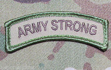 ARMY STRONG ROCKER TAB USA TACTICAL MILITARY MORALE BADGE MULTICAM VELCRO PATCH