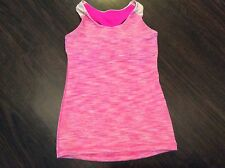 LULULEMON IVIVVA girls twisted tank in pink stripe size 10 wee are from space