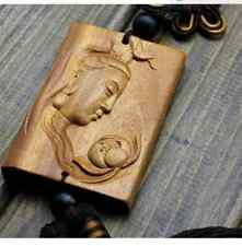new! 1Pcs Fashion delicate hand-carved  goddess of mercy cars hanging pendant