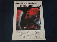 ROGER CHAPMAN AND THE SHORTLIST SIGNED POSTER