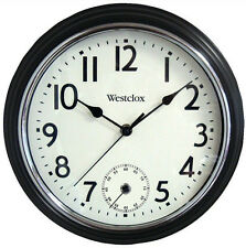 "Westclox 12"" Two Movement Black Wall Clock Quartz Analog"