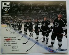 2013-14 Los Angeles Kings Team Photo Card Signatures Quick Kopitar Doughty Brown