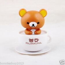 San-X Rilakkuma Cutie Solar Powered Bobblehead Car Desk Decoration Nohohon Zoku