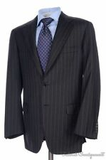 BRIONI Recent Nomentano Gray Striped 100% Wool Jacket Pants SUIT Mens - 40 R