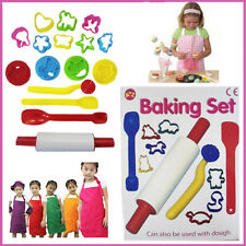 16 pc Girls Baking Set A to Z Bakeware Xmas Gift Pastry Rolling Pin Shaper Fun