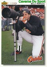 250 BILLY RIPKEN BALTIMORE ORIOLES BASEBALL CARD UPPER DECK 1992