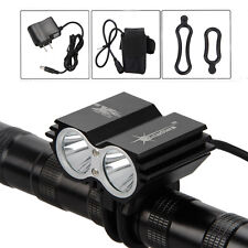 SolarStorm 6000lm 2xCREE T6 LED Front Bicycle Light Bike Headlamp Headlight Lamp