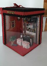Vintage Handmade Shadow Box Diorama~Miniature Saloon~Large! Detailed! Must See!!