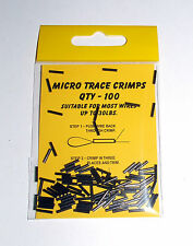 Micro Trace Crimps up to 30lbs pack of 100 - Carp Coarse Sea Fishing