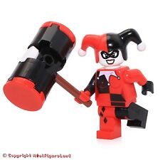 LEGO Super Heroes: Batman MiniFigure - Harley Quinn (Black & Red Hands) Set 6857