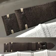 20 mm dark Gray Leather Strap bracelet banduhr cinturino for vintage uhr watch