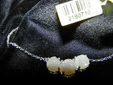 SALE - Pearl Shimmer Drusy Quartz (Rnd 2.15 Ct) Necklace in Sterling Silver N