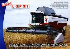 Rostselmash Torum 760 2012 catalogue brochure moissonneuse batteuse combine