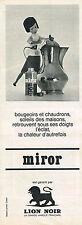 PUBLICITE ADVERTISING  1963    LION NOIR    MIROR