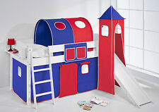 CHILDRENS CABIN BED MIDSLEEPER WITH TOWER + SLIDE 4105 BY LILOKIDS