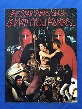 """1983 LFL Star Wars ROTJ Fan Club Membership Application Form / Poster 8.5"""" x 11"""""""