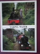 POSTCARD RAVENGLASS & ESKDALE RLY LOCOS 'RIVER IRT' & 'RIVER MUTE' TAKING WATER