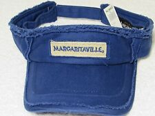 JIMMY BUFFETT SUN VISOR HAT Margaritaville BLUE MOHEGAN DISTRESSED LOOK CAP
