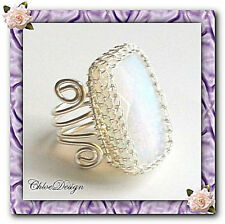 diy pdf Tutorial Wire Jewelry Opalite Ring casual,wedding,wrapping,adjustable
