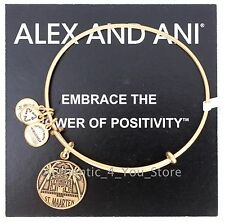 NEW ALEX AND ANI St. Maarten Exclusive GOLD Charm Bangle Bracelet