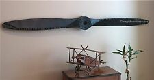INDUSTRIAL RUSTIC METAL AIRPLANE AIRCRAFT PROPELLER PLANE AVIATION WALL DECOR