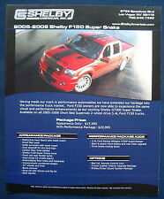 Prospekt brochure 2008 Ford Shelby F-150 Pickup Super Snake (USA)