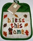 "Fall Pot Mitt 7"" x 9"" BLESS THIS HOME"