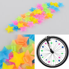 36Pcs Colorful Plastic Clip Kids Girl Boys Bike Bicycle Wheel Spoke Beads Decor