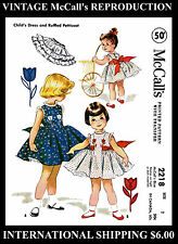 DRESS FROCK & PETTICOAT Toddler Sewing Pattern GIRL Child Size 2 McCall's # 2218