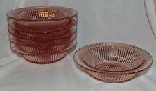 """6  Anchor Hocking QUEEN MARY PINK *7 1/2"""" SALAD BOWL/BUTTER BOTTOMS*"""