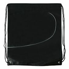 Backpack Waterproof Drawstring Bag Gym School Swim PE Swimming Backpack Black