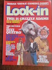 LOOK-IN MAGAZINE Comic 29 April 1978 Suzi Quattro Grizzly Adams