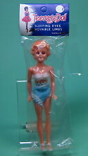 ORIGINAL TEENAGE DOLL WITH SLEEPING EYES IN OVP MADE IN HONGKONG SIXTIES!!