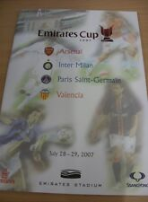 28/07/2007 At Arsenal: Emirates Cup - Inter Milan v Valencia & Arsenal v Paris S