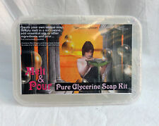 PURA GLICERINA sapone Making Kit-Melt & Pour-sufficienti per 4/5 BAR 475g