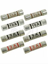 NEW 3A 5A 13A Domestic Household Fuse Plug Mains Cartridge Fuse British Standard