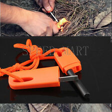 Emergency Survival Fire Starter Lighter Magnesium Rod flint Stone Camping Tool