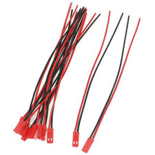 10 x RC Battery 2Pin JST Plug 150mm Length 22AWG Wire-Red & Black P4H8