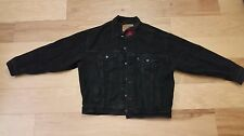 VINTAGE Made in USA Levi's Denim Jean Jacket Black Plaid Men's Size XL Vintage