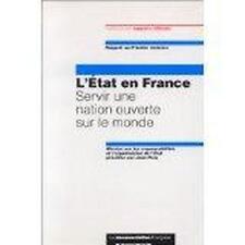 L'Etat en France  servir une nation ouverte sur le monde rapport au Premier mini
