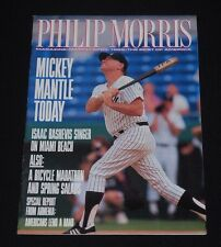 April 1989 Philip Morris Magazine-Mickey Mantle (NY Yankees) cover-No Label!