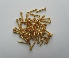 50x LP Guitar Pickup Frame Screws Humbucker Pickup Surround Ring Screws Gold