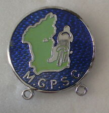 M.G.P.S.C. MANX GRAND PRIX SUPPORTERS CLUB, Enamel Badge MOTOR BIKES Isle Of Man