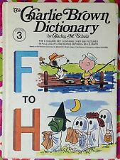 Charlie Brown Dictionary Vol. 3 F-H by Charles M. Schulz Good HC c1973
