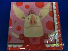 Olivia Nick Jr Cartoon Pig Welcome World Birthday Party Paper Luncheon Napkins