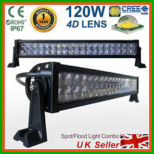 LED Light Bar 120W 4D Spot Flood Work Lamp 4x4W SUV Recovery PICKUP Truck Lorry