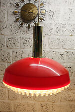 70er Red UFO Hängelampe Lampe 70s Hanging Lamp 60er 60s Pop Pendant Space Age