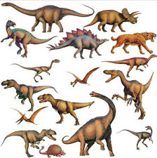 DINOSAURS wall stickers 16 realistic dinos decals decor T-Rex JURASSIC WORLD